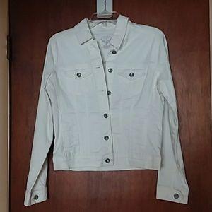 Sonoma White Denim Jacket